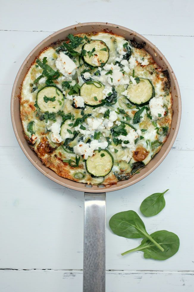 egg whites & green veggie frittata - full of nutritional healthy goodness & non-lactards can add feta for extra flavour