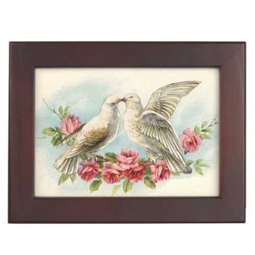 Vintage Doves Custom Wedding Keepsake Box