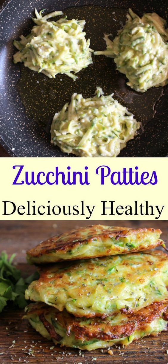 Zucchini Patties a delicious healthy easy recipe the perfect side dish appetizer or even main dish a yummy way to add some veggies/anitalianinmykitchen