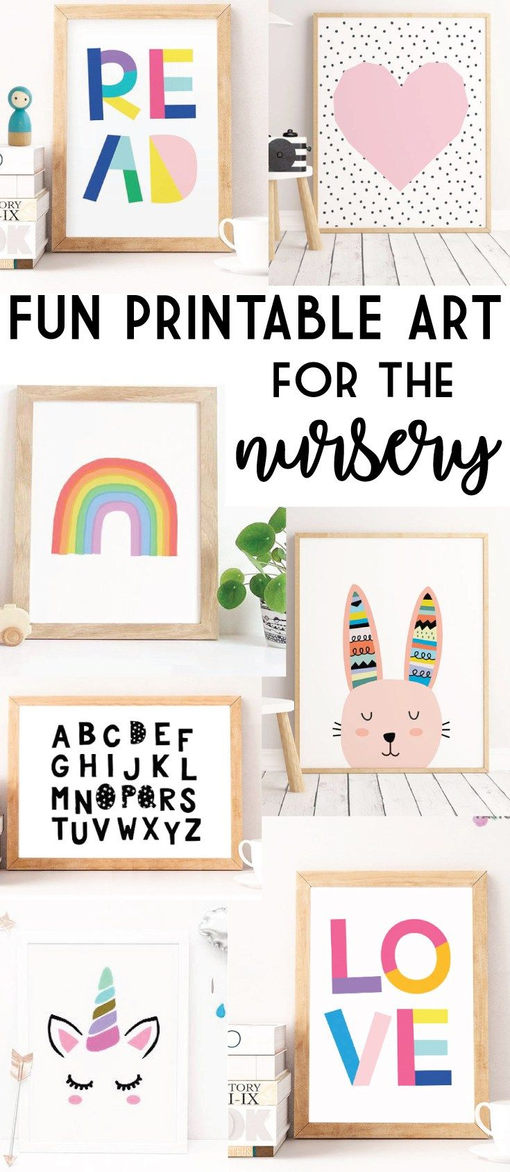 Fun Printable Wall Art for the Nursery #moodbored #wallart #digitaldownload #ad