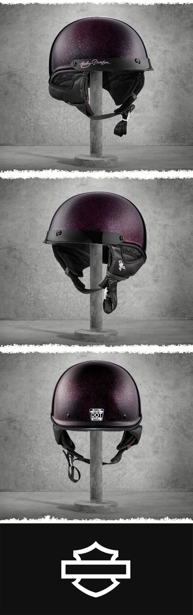 The Pink Label Collection wouldn't be complete without this ladies' helmet. | Harley-Davidson Women's Pink Label Ultra-Light J02 Half Helmet