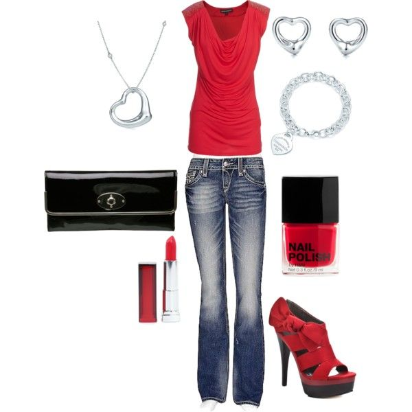 Date night: Date Night Outfit, Red Lipsticks, Clothing, Red Shoes, Date Nights, Women'S Jeans, Red Outfit, Diy Projects, Red Black