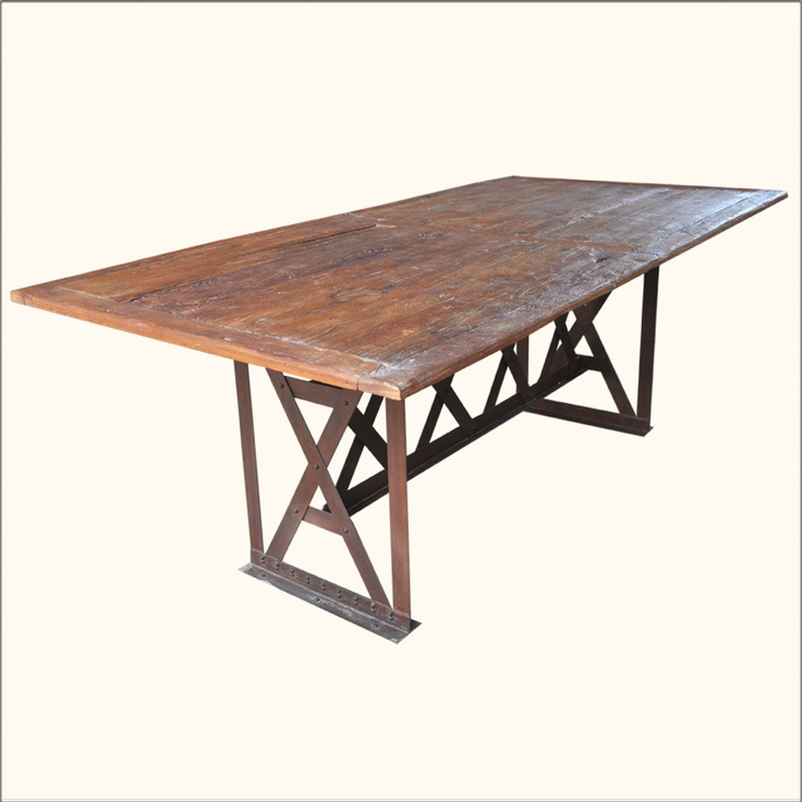 Rustic Distressed Solid Teak Wood Folding Large