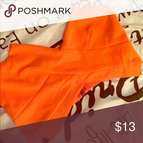 Orange bandeau top Great statement top for a night out! Can fit up to a medium Tops Crop Tops