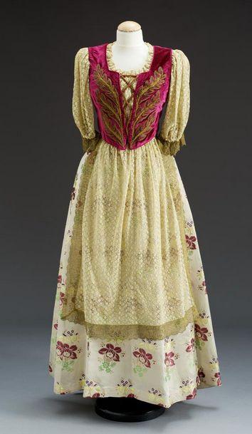 Skirt and bodice, 1939-40, Hungary.
