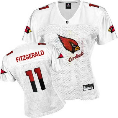... NFL Jerseys Arizona Cardinals 11 FITZGERALD White Womens Arizona  Cardinals 11 Larry Fitzgerald Field Flirt ... ce99d0e16