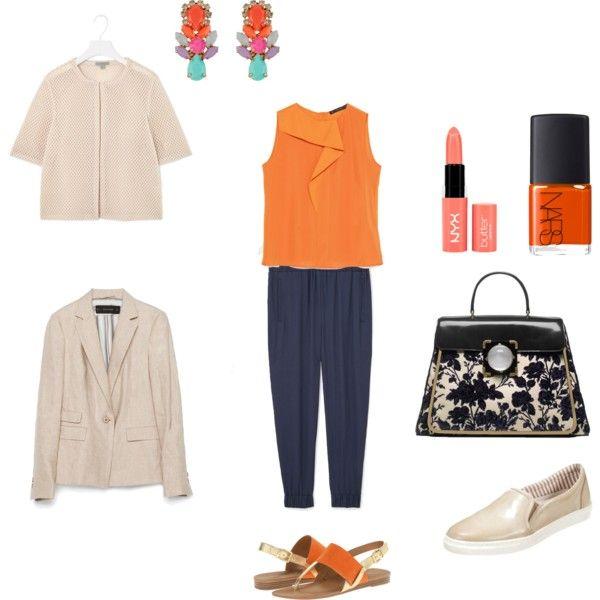 Office look by annaturcato on Polyvore featuring moda, Zara, Franco Sarto, Tory Burch, Accessorize, NYX and NARS Cosmetics