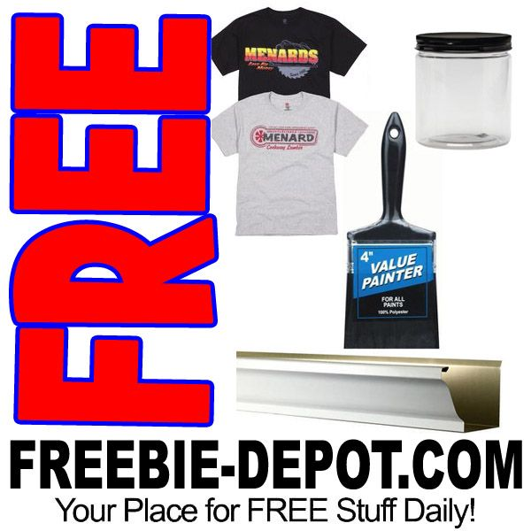 Free Shirts Gutters Brushes And Jars At Menards Exp 6 17