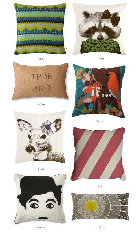 Cushions to Covet: Pillows Pillows, Pillows Fight, Chaplin Pillows, Comfy Pillows, Eating Drinks, Pillows Talk, Drinks Chic, Throw Pillows, Decor Pillows