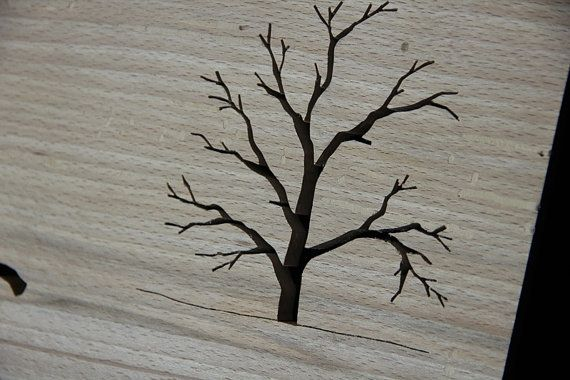 The Hare and Tree by TheHairyScroller on Etsy