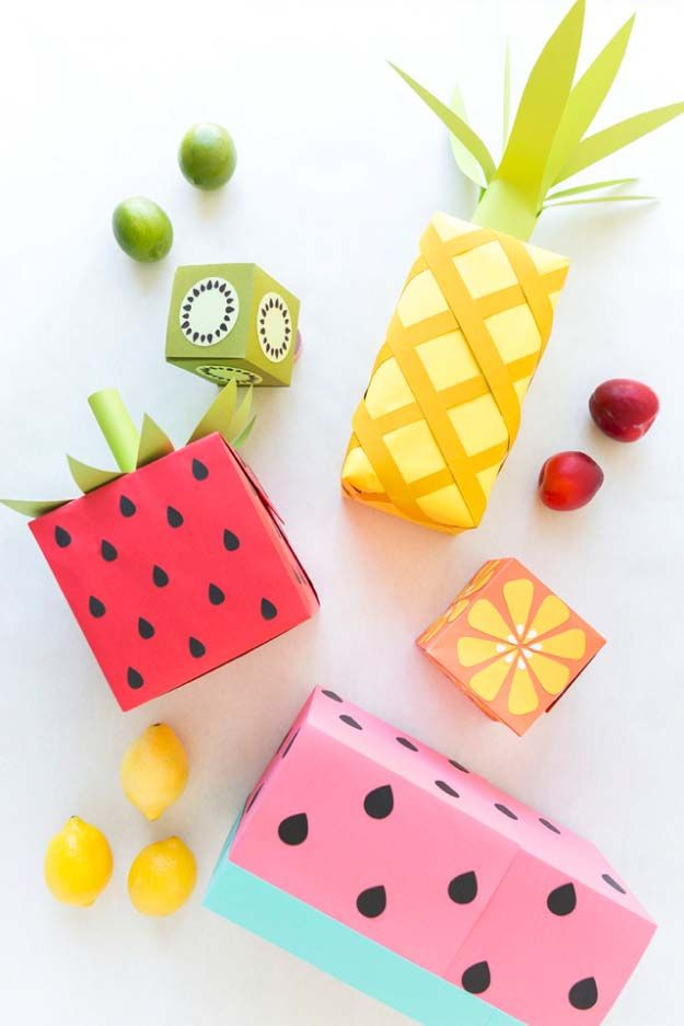 DIY Gift Wrapping Ideas - How To Wrap A Present - Tutorials, Cool Ideas and Instructions | Cute Gift Wrap Ideas for Christmas, Birthdays and Holidays | Tips for Bows and Creative Wrapping Papers |  Fruit Wrapping Paper |  http://diyjoy.com/how-to-wrap-a-gift-wrapping-ideas