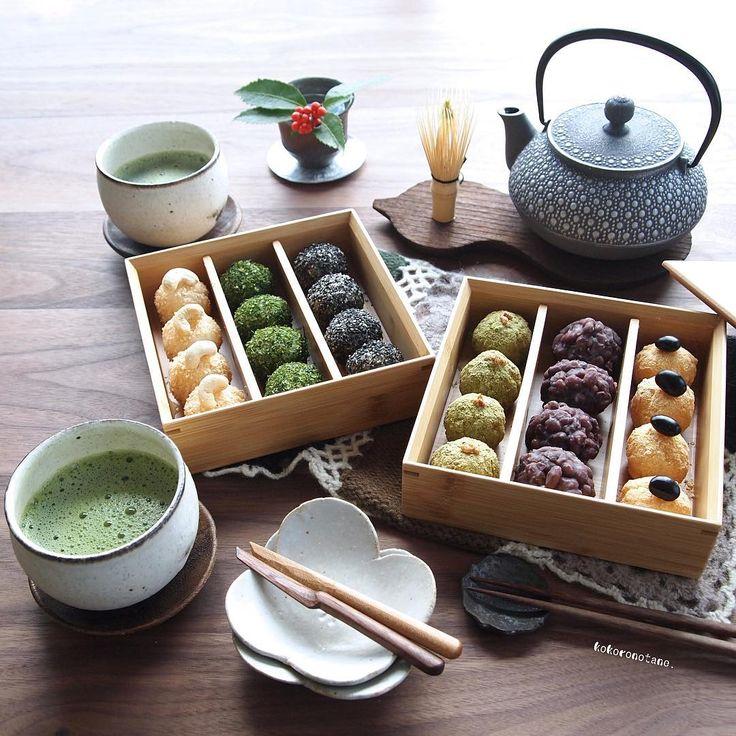 """❁. * ⋆ ░ °. * ⋆ ❁ 今 Today I wanted to eat whatever Ohagi did.  · Since there was no glutinous rice, I tried to crush only white rice.  Tenko sugar is just a little bit.  · I made it tasty ♩ · It is Pakutto Hitachi size so it is about 25g ((. 'Ω`.)) Ŧ <""""ŧ <"""" ... · ❁ あ ず き ❁ き な こ (Black bean fish) ❁ Green tea kinako (roasted brown rice ball) ❁ Sled Black sesame seed iced white sesame (cashew nut pouch) ❁ あ お さ · Today is my house to eat red bean porridge originally because it is the small New…"""