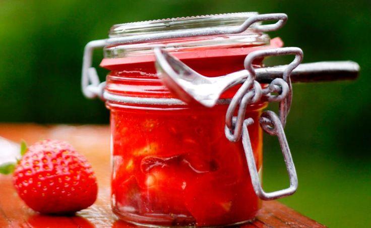 Verdens beste rørte jordbærsyltetøy