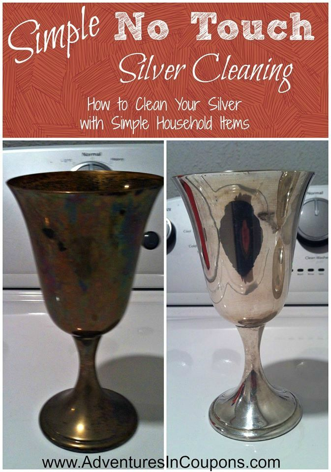 How to Clean Silver with baking soda and foil - Silver can be a pain to get clean and silver polishes are so expensive! Check out this simple no touch silver cleaning method to save both time and money to make your pieces look fantastic again!