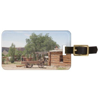 Old wagon pioneer village Utah Luggage Tag - travel luggage tags personalize customize your name diy