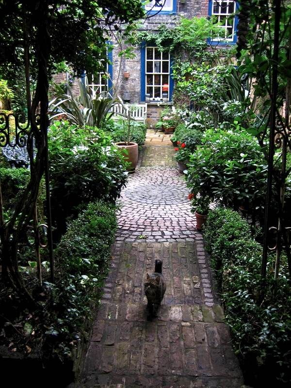 In Princelet St | Secret Gardens of Spitalfields, East End of London | With the gracious permission of the owners, you are invited to visit these hidden enclaves of green that are entirely concealed from the street by the houses in front and the tall walls that enclose them.