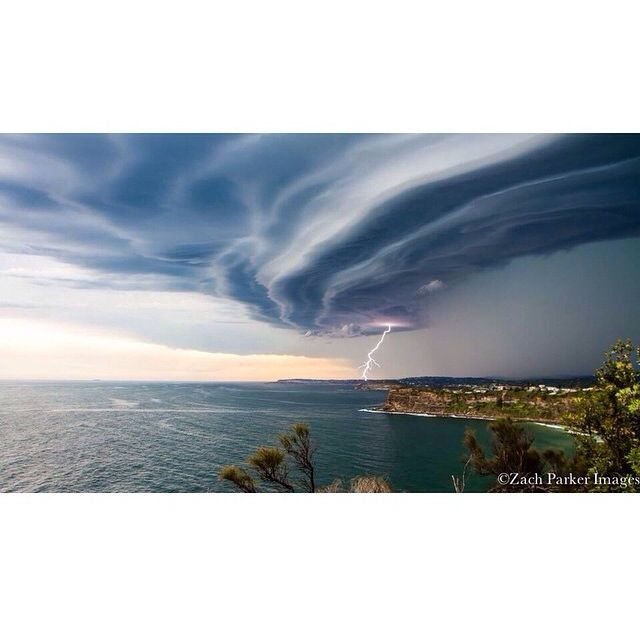 Unreal shot of this afternoon's storm | Captured by @zachparkerimages over Bungan Beach ⚡️ #doubledoubletoilandtrouble #bungan #beach #northernbeaches #sydney #storm #happy #friday #topheads #sunglasses #Bondi www.topheads.com.au