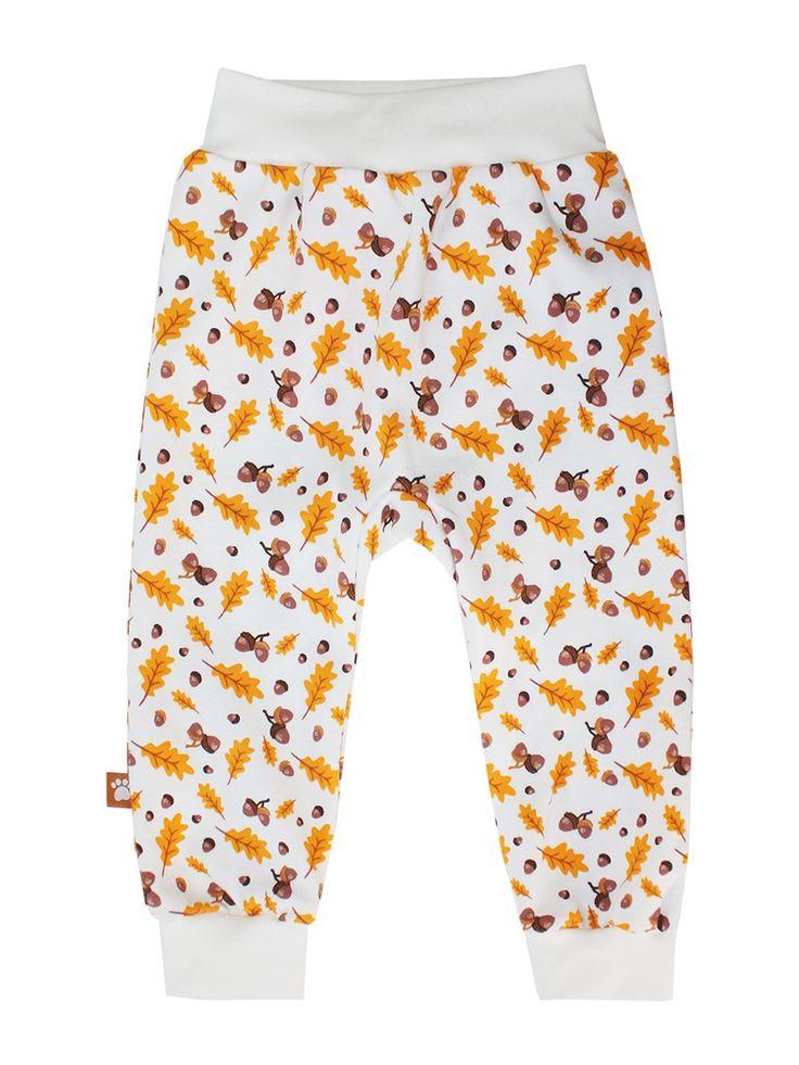 Штанишки, Коллекция Дубочки КОТМАРКОТ. Цвет белый, коричневый, оранжевый, желтый.