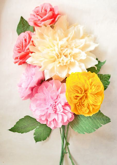 Paper Flowers Handmade Tutorials DIY
