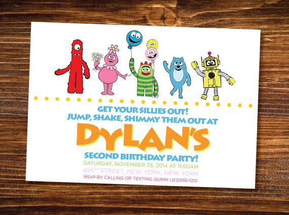 74 best yo gabba gabba images on pinterest | yo gabba gabba, Birthday invitations