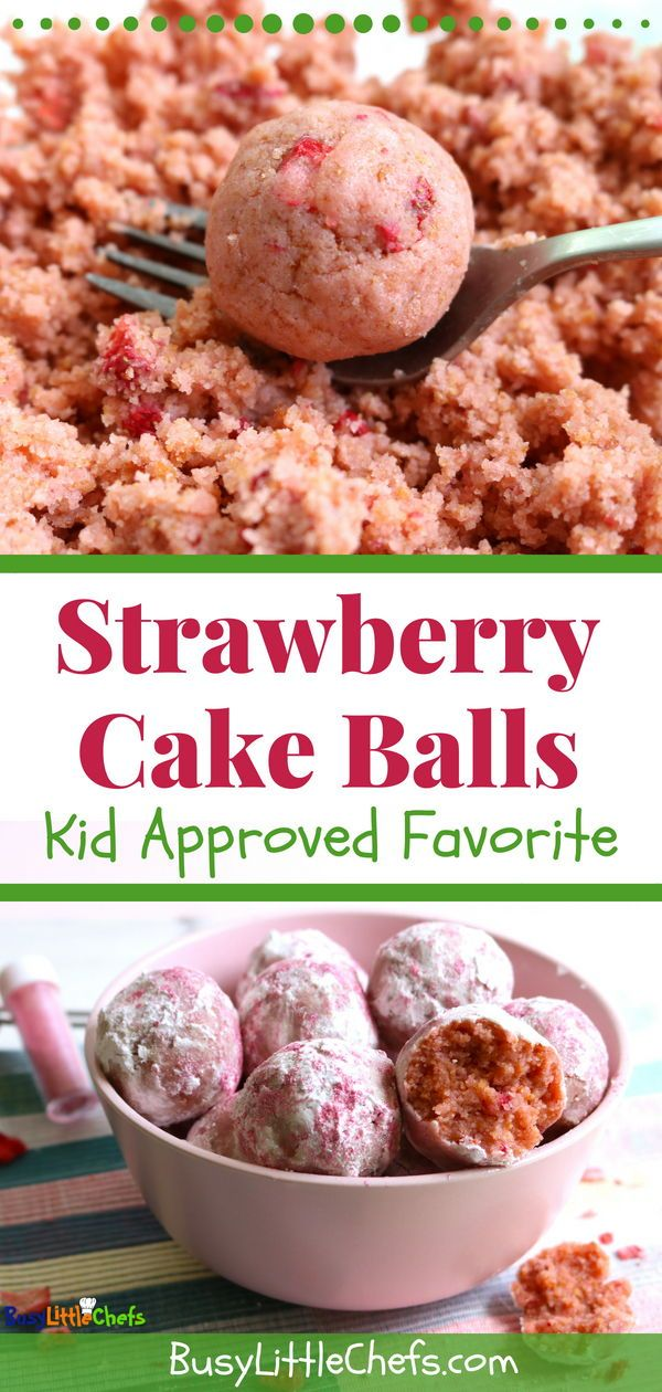 Strawberry Cake Balls  – Sweets and Treats