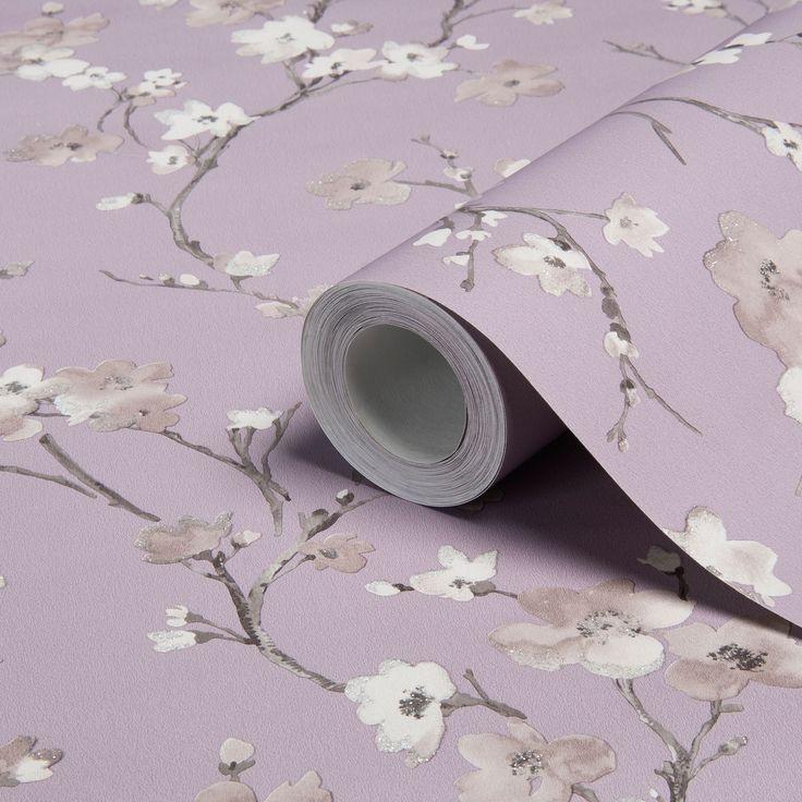 Wisteria Blossom Wallpaper | Departments | DIY at B&Q