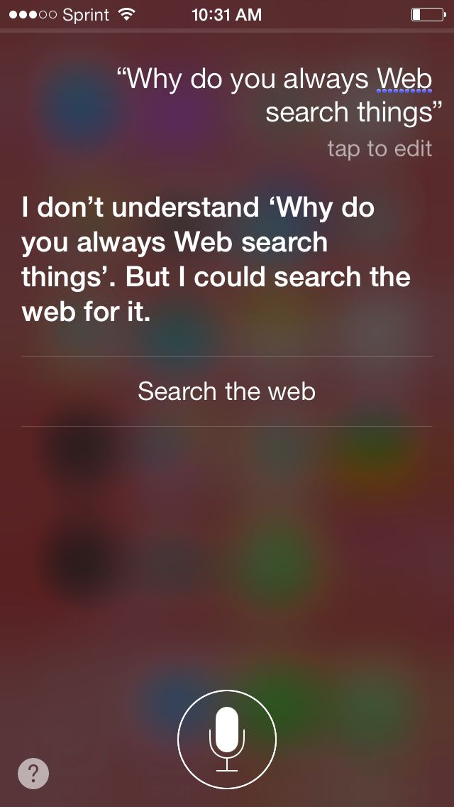 One day I was talking to Siri and I asked her this, haha I couldn't stop laughing to her answer btw @ Madison McIntyre