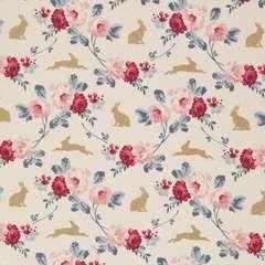 Tilda 110 Rabbit&Roses Teal