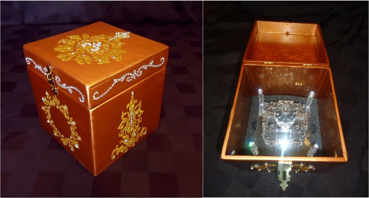 Indian Inspired theme box.  Was custom made to carry a valuable fine crystal taj mahal.