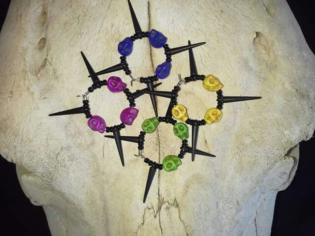 Made by Grievious-Bone Skull Wine Glass Rings for Halloween
