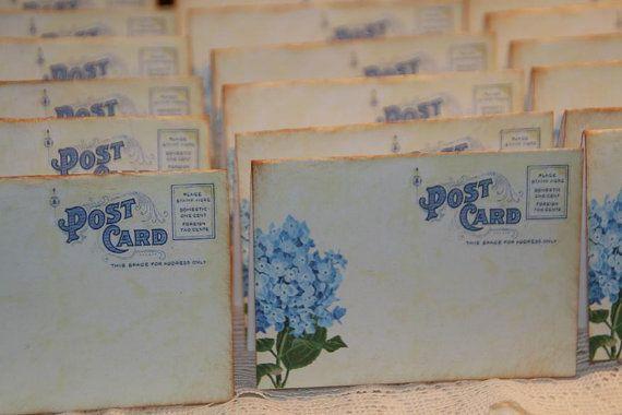 50  Wedding Place Cards  Vintage Post Cards by GreenAcresCottage, $34.50