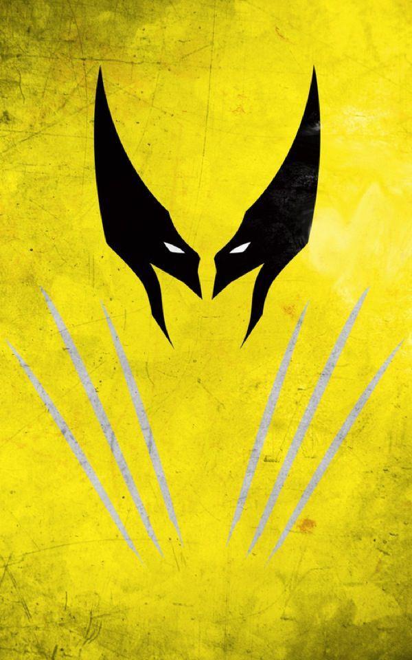 10 Gorgeous Minimalist Superhero Illustrations In Vibrant Colors. Wolverine #Marvel #Xmen