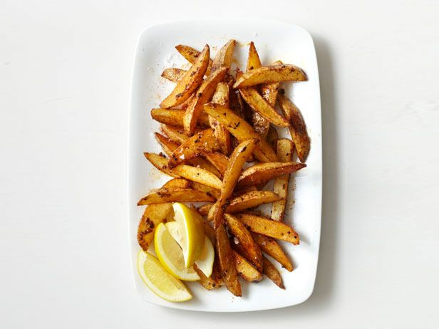 Spiced Oven-Fried Potatoes #FNMag #myplate #veggies: Food Network, Ovens Fries Potatoes, Potatoes Recipes, Best Healthy Recipes, Vegetables Oil, French Fries, Spices Ovens Fries, Potato Recipes, Potatoes Wedges