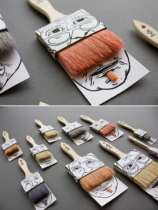 The ICCC team loves this creative design! Paintbrushes as mustaches, how sweet.