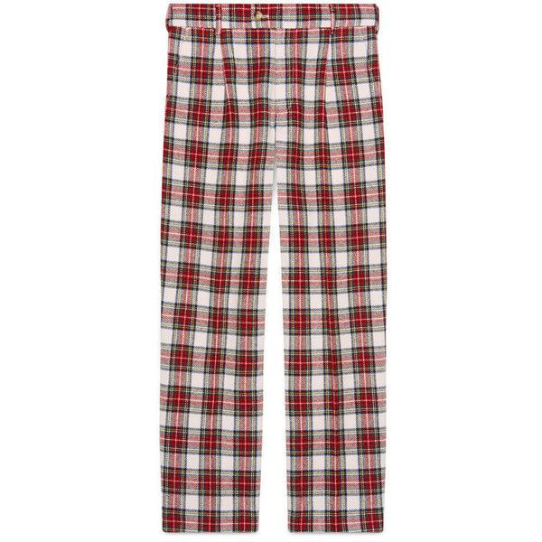 Gucci Soft Tartan Pajama Pant ($620) ❤ liked on Polyvore featuring men's fashion, men's clothing, men's sleepwear, men, ready to wear, trousers & shorts, mens clothing, mens apparel, mens sleepwear and gucci mens clothing