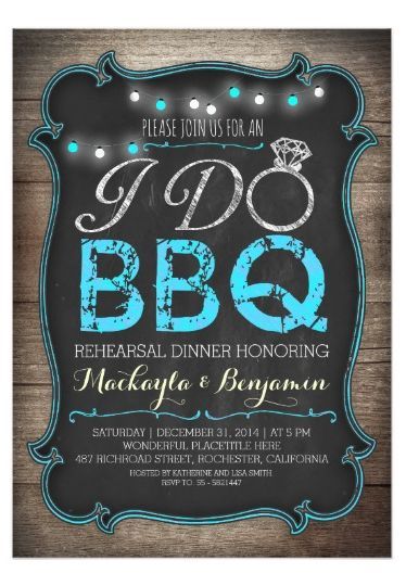 Rustic I do BBQ rehearsal dinner invitation #rusticwedding