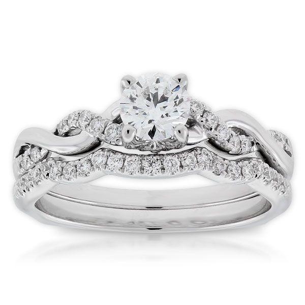 Ikuma Canadian Diamond Bridal Set 14K RingsBridal