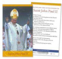 Saint Pope John Paul II Prayer Leaflet.