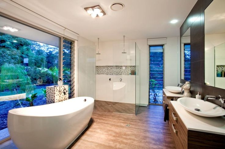 This bathroom benefits from a combination of Altair Louvres and a large fixed…