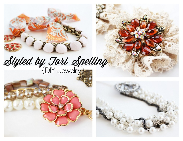Positively Splendid {Crafts, Sewing, Recipes and Home Decor}: DIY Accessories with Styled by Tori Spelling