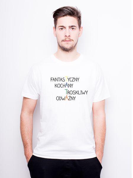 T-Shirt męski z nadrukiem - Fantastyczny Tata w Allbag-Allprints na DaWanda.com