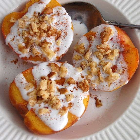 #Grilled Peaches with Coconut Cream- healthy & refreshing #dessert. #paleocamping