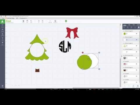 In this tutorial, I show you how to create a frame for your monogram by using slice. This example I use a Christmas tree and a bow. How to create a shadow la...