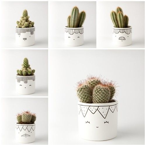 accessories - flowerpots and vases-ZESTAW 2 doniczki małe