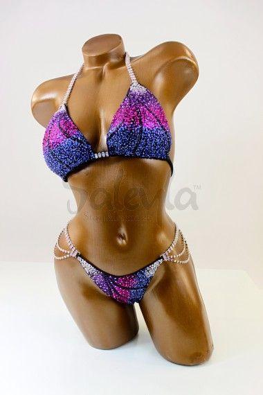 Purple/Blue Shades Bikini Suit