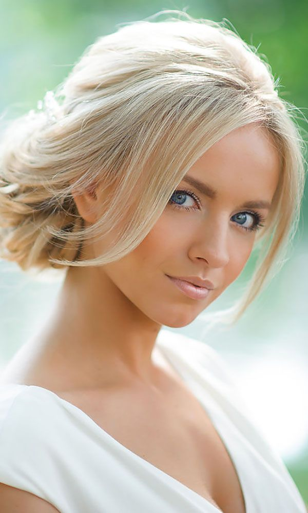 24 Short Wedding Hairstyle Ideas So Good You'd Want To Cut Your Hair ❤ See more…