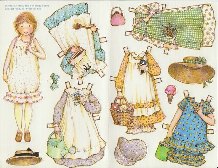 Holly Hobbie Greeting Paper Doll Card Rare Uncut Vintage Sweet Girl | eBay