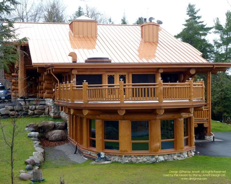 552 best images about amazing log homes on pinterest for Log home decks