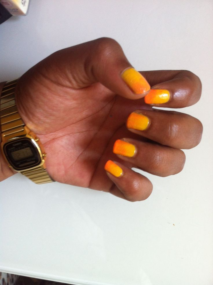 Ombré Nails - Yellow & Orange