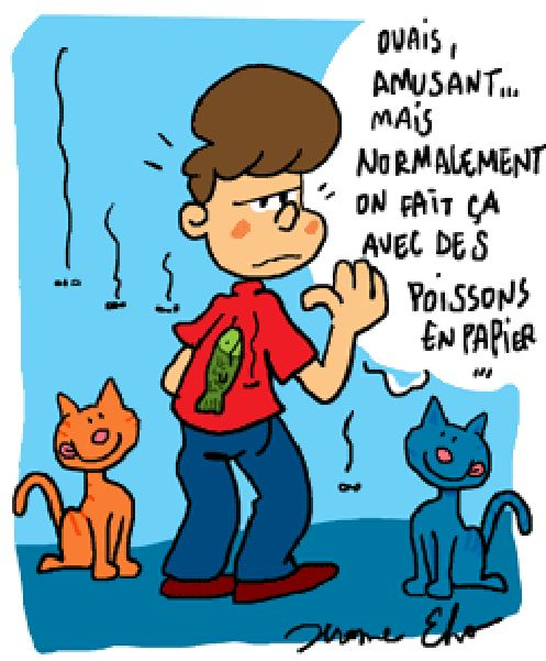 Yes, funny, but usually you do it with paper fish... http://www.frenchtoday.com/blog/poisson-davril-aprils-fool-in-france